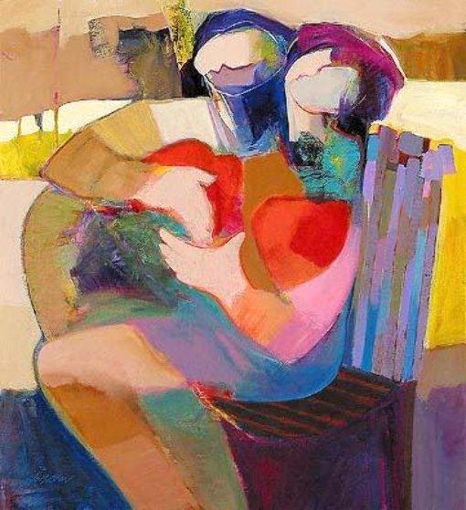 Edge of Love Embellished Limited Edition Print by Abrishami Hessam
