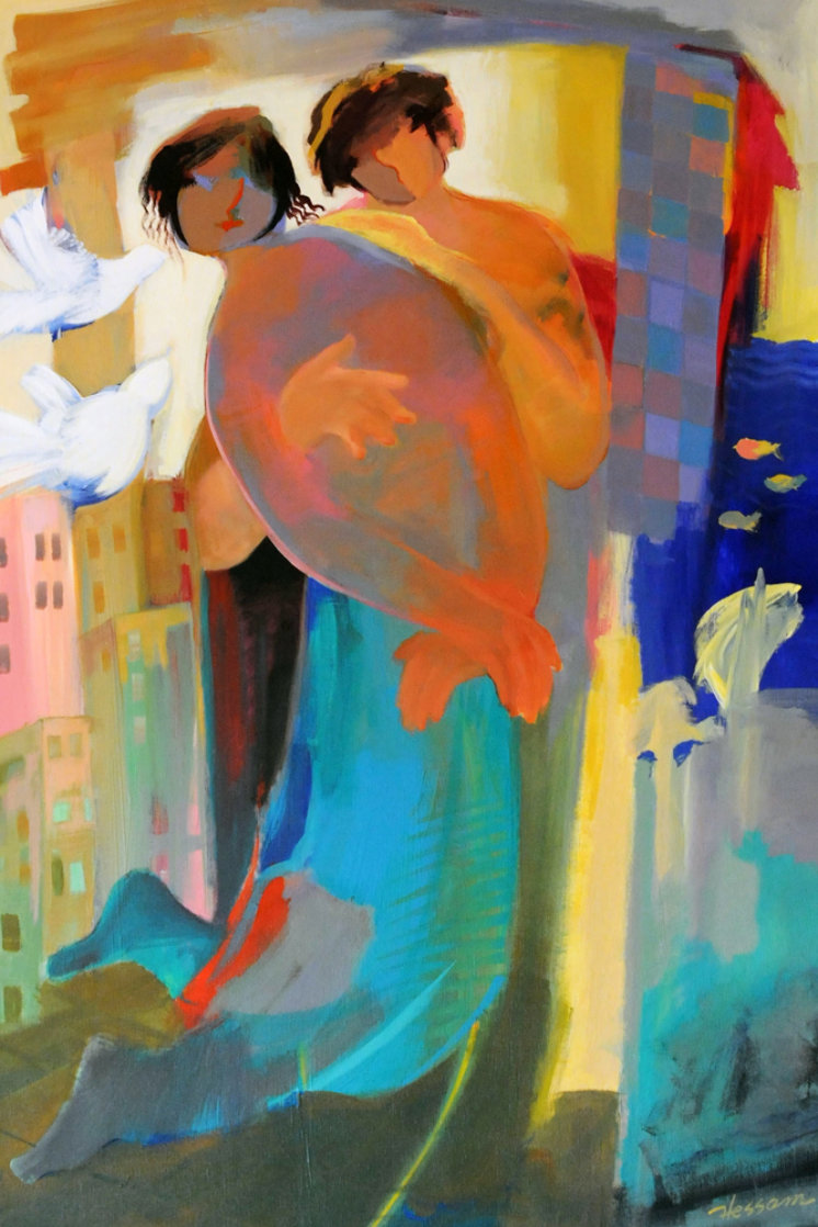 First Spring 1997 30x44 Super Huge Original Painting by Abrishami Hessam