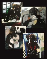 Closed Windows, All I Need, Lonesome, And Friendship II, Set of 4 1997 Limited Edition Print by Abrishami Hessam - 7