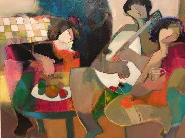 Harmony 2000 40x33 Original Painting - Abrishami Hessam
