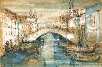 Chiorggia Near Venice 28x40  Original Painting - Edna Hibel