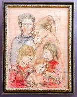 Family Unique 39x27 Works on Paper (not prints) by Edna Hibel - 1
