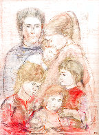 Family Unique 39x27 Works on Paper (not prints) by Edna Hibel - 0
