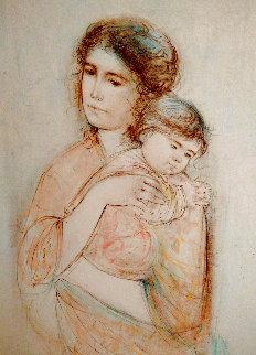 Untitled Mother and Child AP Embellished Limited Edition Print - Edna Hibel
