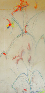 Summer Time 1970 17x30 Original Painting - Edna Hibel