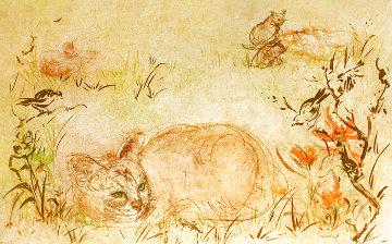 Worcester Cat     Limited Edition Print - Edna Hibel