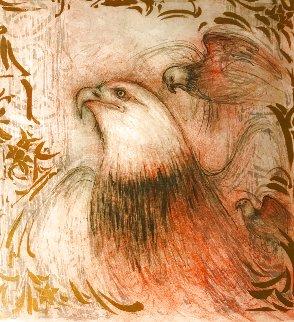 Untitled IV (Eagle) w Remarque 9/11 Limited Edition Print - Edna Hibel