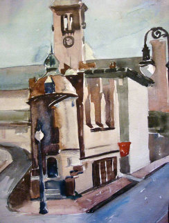 Cambridge, Massachusetts Watercolor 14x9 Watercolor - Edna Hibel