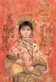 Little Empress   LI 324 1981 42x28 Limited Edition Print - Edna Hibel