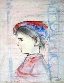 Little Prince 20x18 Original Painting - Edna Hibel