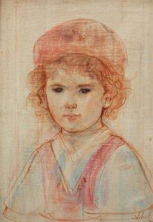 Joshua 20x16 Original Painting - Edna Hibel