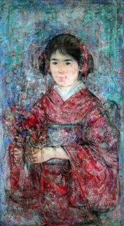 Japanese Kimono Original Painting - Edna Hibel
