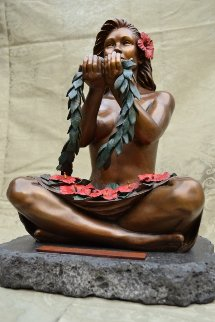 Spirit of Aloha Bronze Sculpture 2010 15 in Sculpture - Lori Higgins