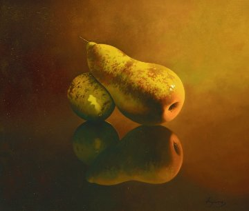 Camene 2014 36x28 (Pears) Original Painting by Jose Higuera