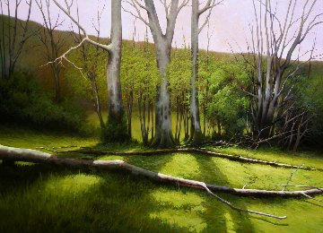 Spring Appear in the Forest 2016 57x41 Original Painting - Jose Higuera