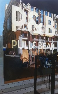 Pull and Bear Shopping 2018 47x31 Super Huge Original Painting - Jose Higuera