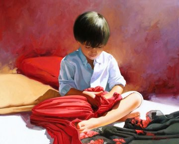 Scarves 2013  32x39 Original Painting by Jose Higuera