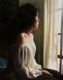 Nostalgia 2014 39x32 Original Painting - Jose Higuera