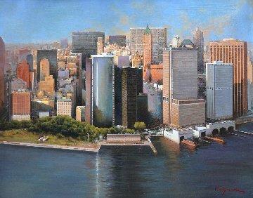 Manhattan, New York 2012 32x39 Original Painting by Jose Higuera