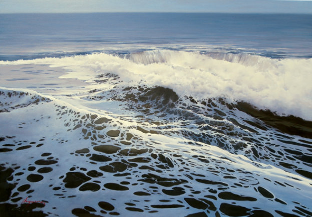 On the Wave 2013 32x46 Original Painting by Jose Higuera