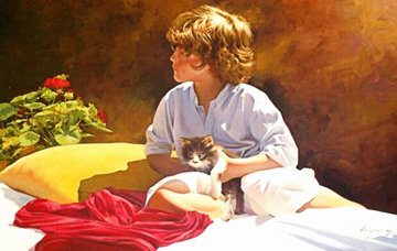 Where Are You Looking At? 2012 31x39 Original Painting - Jose Higuera