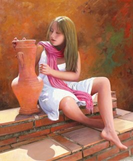 Elena 2012 43x35 Original Painting - Jose Higuera