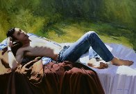 Rock Lover 2014 32x46 Original Painting by Jose Higuera - 1