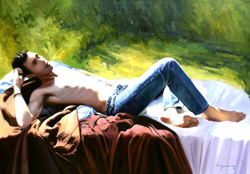 Rock Lover 2014 32x46 Original Painting by Jose Higuera