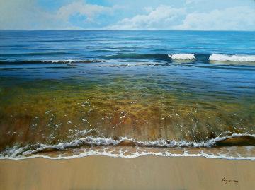 El Otro Mediteranneo 2013 51x40 Original Painting - Jose Higuera