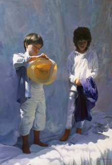 Summer 2015 45x31 Original Painting - Jose Higuera