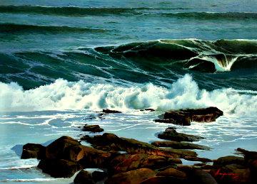 Mar Brava 2012 25x32 Original Painting by Jose Higuera