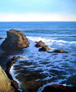 Mar Del Norte  2012 39x32 Original Painting - Jose Higuera