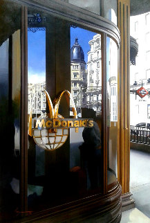 MC Shopping 2015 47x31 McDonalds Original Painting - Jose Higuera