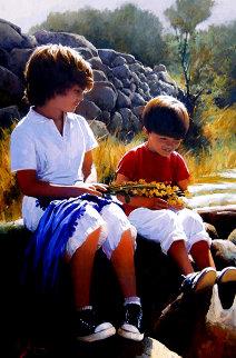 Complicity 2012  45x32 Original Painting - Jose Higuera