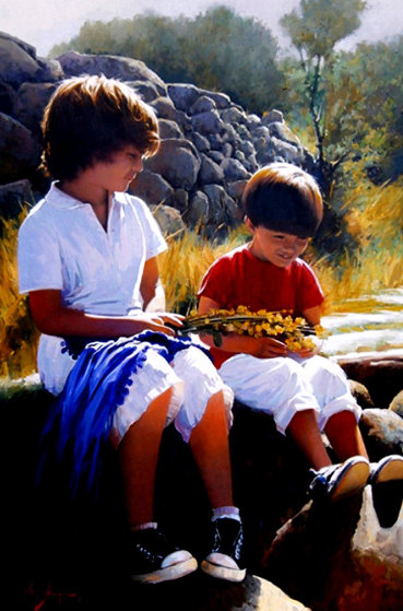 Complicity 2012  45x32 Original Painting by Jose Higuera