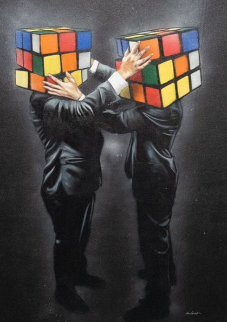 Puzzled 2018 49x33 Original Painting -  Hijack