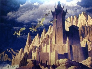 Dark Tower And the Siege of Minas Tirith, Suite of 2 2013 Limited Edition Print - Gregor Hildebrandt