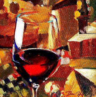 Cabernet 2008 14x16 Original Painting - Darrell Hill