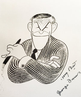 George Burns HS Personally Annotated 1989 HS by George Limited Edition Print - Al Hirschfeld