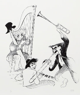 Marx Brothers Musicale AP 1998 Limited Edition Print - Al Hirschfeld