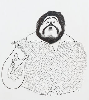 Pavarotti 1981 Limited Edition Print by Al Hirschfeld
