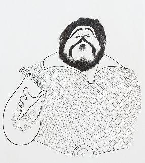 Pavarotti 1981 Limited Edition Print - Al Hirschfeld