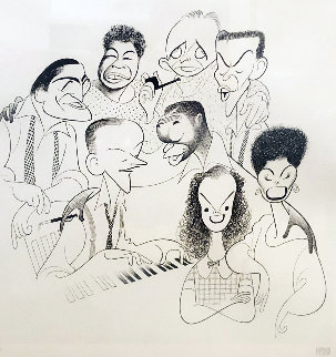 American Popular Song: Great American Singers 1981 Limited Edition Print by Al Hirschfeld