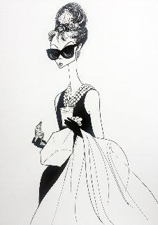 Audrey At Tiffanys 1999 Limited Edition Print - Al Hirschfeld