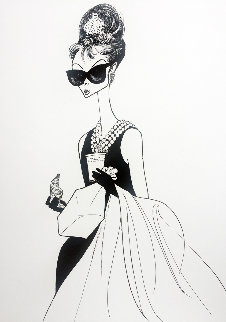 Audrey At Tiffanys 1999 Limited Edition Print by Al Hirschfeld
