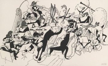 Orchestra Pit 1998 Limited Edition Print by Al Hirschfeld