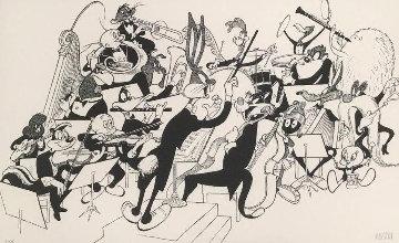 Orchestra Pit 1998 Limited Edition Print - Al Hirschfeld