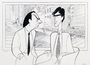 Law and Order Limited Edition Print by Al Hirschfeld