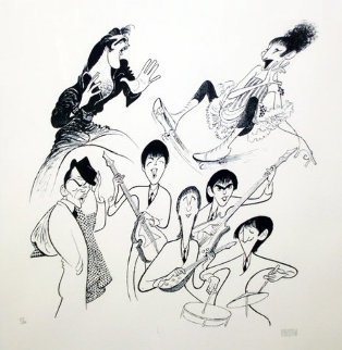 Sensations Limited Edition Print - Al Hirschfeld