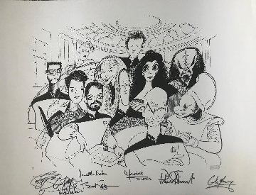 Star Trek the Next Generation signed by the cast Limited Edition Print - Al Hirschfeld